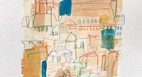 نقاشی اکریلیک از شهر پاریس